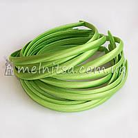 Ободок для волос в атласе, салатовый, 1 см