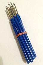 Крючки вязальные с синей ручкой 3.5 мм