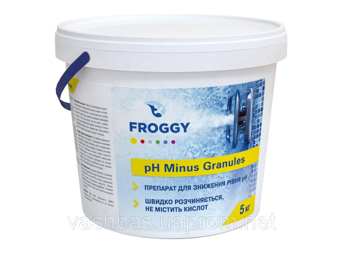 PH+ Plus Granules, 5кг средство для повышения уровня Ph воды. Химия для бассейна FROGGY™