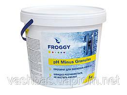 PH- Minus Granules, 5кг средство для понижения уровня Ph воды. Химия для бассейна FROGGY™