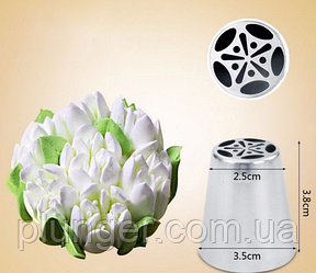 Насадка кондитерська велика, №619, Квітка Тюльпан