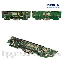 Шлейф для Nokia 625 Lumia, коннектора зарядки, микрофона, с компонентами, оригинал