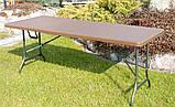 Комплект розкладних садових меблів Стіл 1,8м + 2 лавки, фото 2