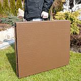 Комплект розкладних садових меблів Стіл 1,8м + 2 лавки, фото 3