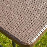 Комплект розкладних садових меблів Стіл 1,8м + 2 лавки, фото 5
