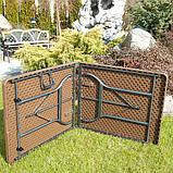 Комплект розкладних садових меблів Стіл 1,8м + 2 лавки, фото 4
