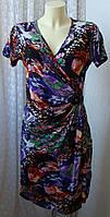 Платье женское летнее легкое модное яркое вискоза стрейч мини бренд Rozabella р.44-46 6348