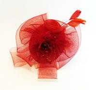 Обруч для волос с украшением пластик/ткань-ширина 1,0 см * Ø 12,0 см., фото 1