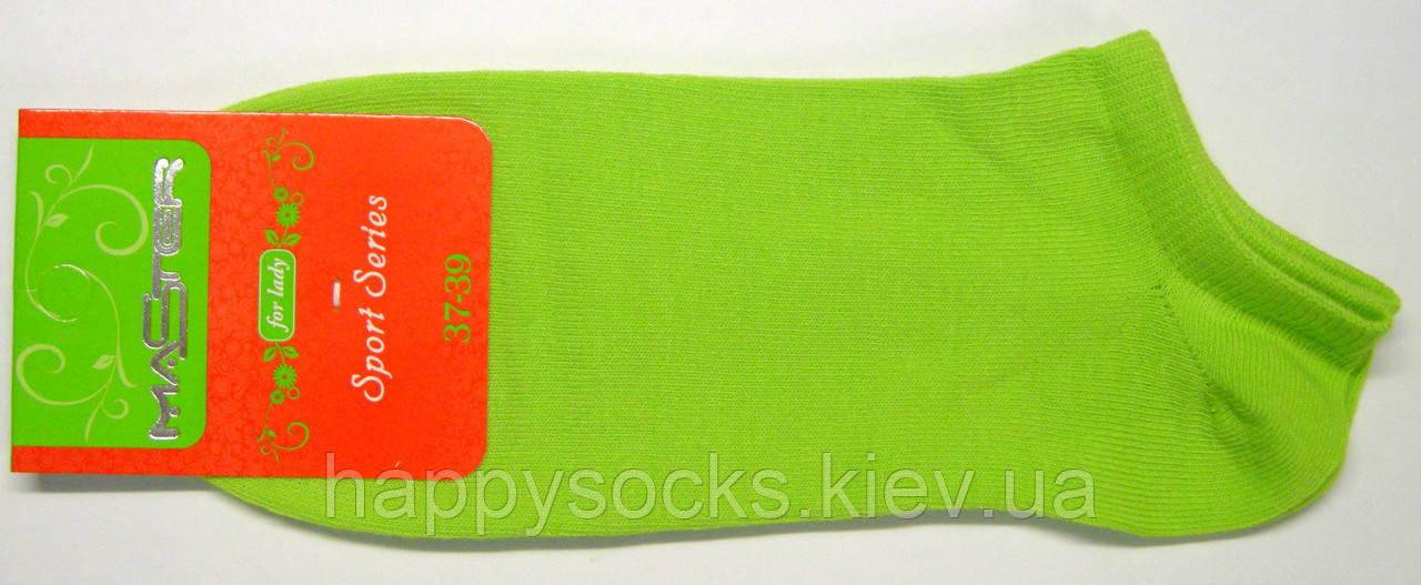 Салатовые короткие женские носки