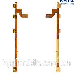 Шлейф для Nokia Lumia 720, кнопки включения, боковых клавиш, с компонентами, оригинал