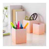 """IKEA """"ХЕЙСАН"""" Стакан для ручек  шт 3., Оранжевый, разноцветные"""