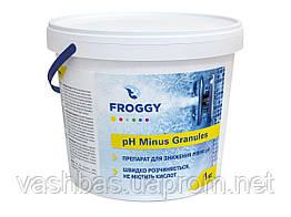 PH - Minus Granules, 1кг засіб для зниження рівня Ph води. Хімія для басейну FROGGY™