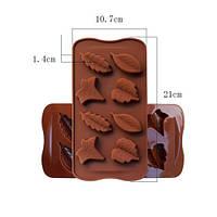 Силиконовая форма для мастики листья для выпечки для лепки торта молд для мыла шоколада