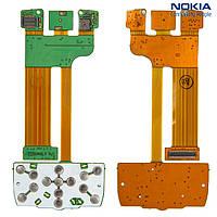 Шлейф для Nokia E66, межплатный, с компонентами, без камеры, с верхним клавиатурным модулем (оригинал)