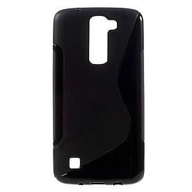 Чехол накладка для LG K7 X210DS силиконовый S-Line, черный
