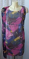 Платье женское летнее легкое модное вискоза стрейч мини бренд Eli Juli р.44 6351