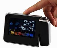 Электронные часы-проектор метеостанция calendario a schermo colorato, фото 1