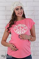 Свободная футболка Latisha flower для беременных (розовый)