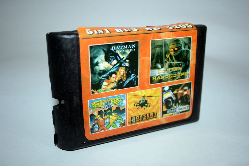 Картридж Sega 5в1 Road Rash 2 Battletoads Double dragon