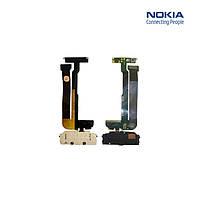 Шлейф для Nokia N95 8Gb, межплатный, с камерой, с компонентами, с верхним клавиатурным модулем