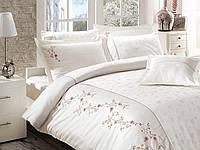 Комплект постельного белья vip сатин first choice евро размер ramira crem