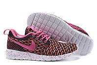 Женские кроссовки Nike Roshe Run Flyknit London Pink