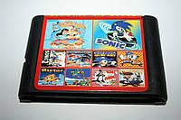 Картридж Sega 10в1 Super Mario Bros Sonic 6 Aladdin