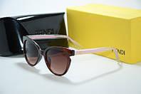 Солнцезащитные очки Fendi коричневые, фото 1