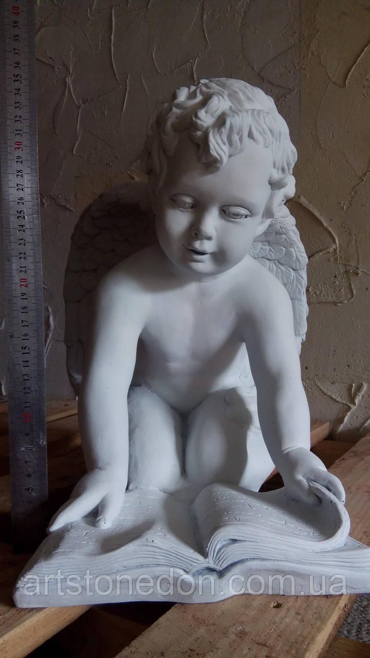 Ангелочек с книгой из полимербетона (полистоуна) 40 см