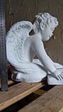 Ангелочек с книгой из полимербетона (полистоуна) 40 см, фото 3