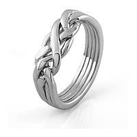 Изумительное серебряное кольцо-головоломка от Wickerring