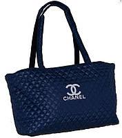 Сумка женская Chanel (Шанель), стёганая, синяя