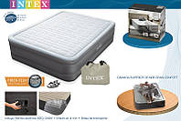 Надувная кровать со встроенным насосом 220В 152х203х46см Intex 64474, фото 1