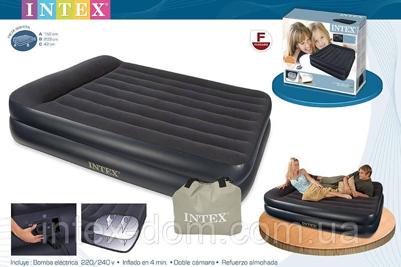 Надувная кровать Intex 66702 ИНТЕКС(152 х 203 х 47 см.) Pillow Rest…киев