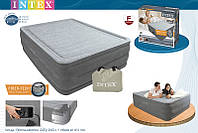 INTEX Надувная кровать Comfort-Plush High Rise Airbed 64418(203х153х56см)