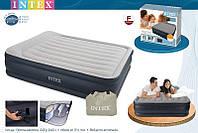 Двуспальная надувная кровать Intex-интекс 67738(203х152х43 см)  встроенный электронасос киев