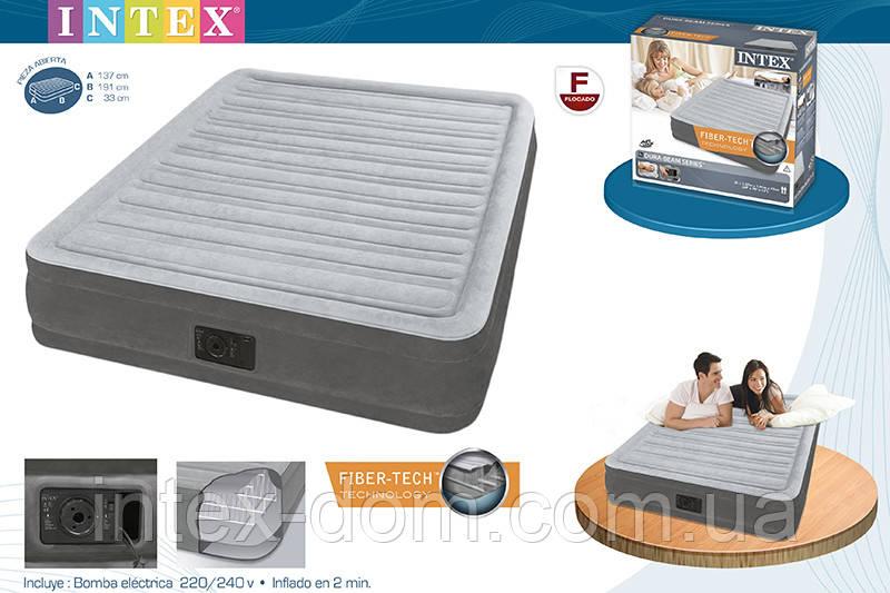 Кровать надувная (191 х 137 х 33 см.) Intex 67768