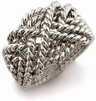 """Необычное серебряное кольцо """"Переплетение судеб"""" от Wickerring"""