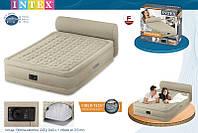 Кровать со спинкой и встроенным насосом Queen Headboard, 152x229x46 см, Intex 64460