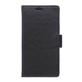 Чехол LG RAY X190 книжка боковой с отсеком для визиток, Гладкая кожа, черный