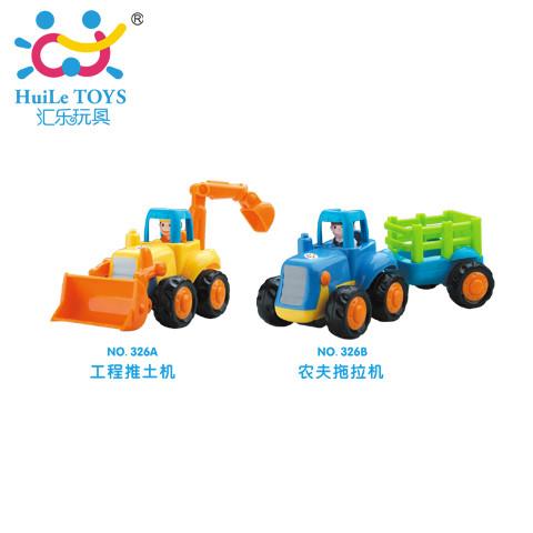 Игрушка Huile Toys Грузовичок (Трактор и Бульдозер)