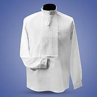Мужская вышитая сорочка крестиком белая по белому