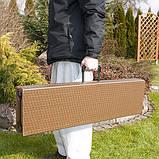 Комплект розкладних садових меблів Стіл 1,8м + 2 лавки, фото 7