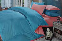 Постельное белье Евро размера East Comfort голубого окраса
