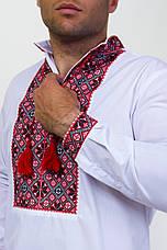 Мужская вышитая сорочка с широким красным орнаментом , фото 2