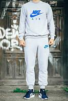 Мужской Спортивный костюм Nike Air серый(с синим принтом)