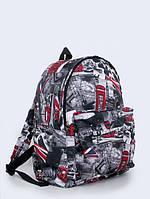 Рюкзак с принтом Красные будки Лондона