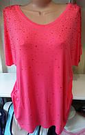 Блуза с ажурной спинкой женская батальная, фото 1