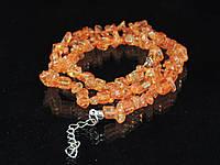 Крошка из сахарного кварца,оранжевый, 45см, фото 1