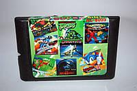 Картридж Sega 8в1 Earlworm Jim Sonic 2 Boogerman